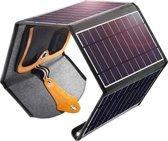 Choetech uitvouwbare Solar Charger 4 panelen - 2x USB - 22W – Waterbestendig