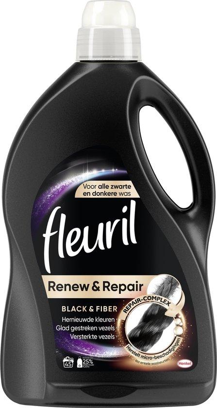 Fleuril Renew & Repair Black & Fiber Wasmiddel - Donkere Was - 45 wasbeurten