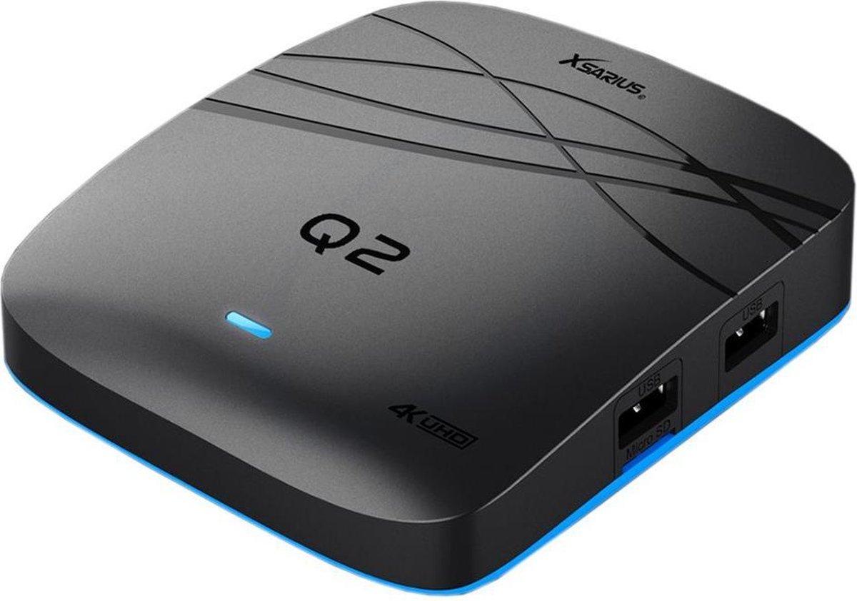 Xsarius Q2 4K | UHD IPTV box met Android 7.1
