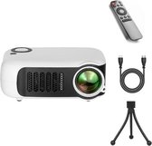 Upgrade Mini Beamer - Mini Beamer Projector - Pocket Beamer A2000 - Inclusief HDMI kabel - Draagbaar - Wit