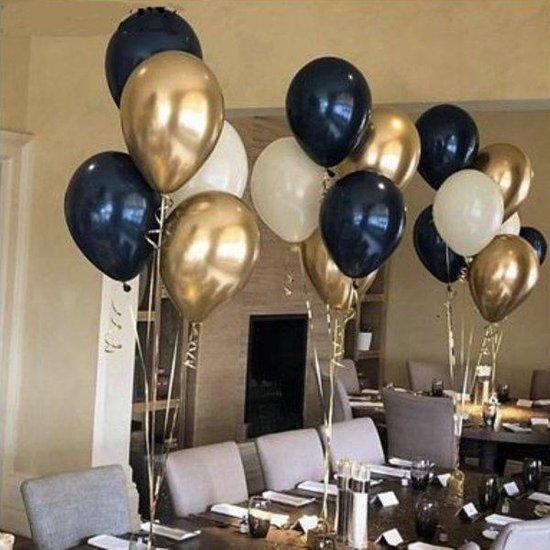 Stijlvol assortiment Chrome ballonnen - 18 stuks - verjaardag ballonnen - extra groot 38 cm lang - hoge kwaliteit bio afbreekbaar latex - peervorm - voor helium, lucht, etc - Nu met gratis snel sluiters t.w.v. 5,95