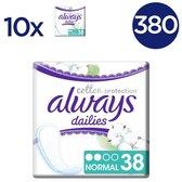 Always Dailies Cotton Protection Normal - 380 Stuks -  Inlegkruisjes