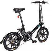 FIIDO D3 Elektrische fiets  Betaalbare E-bike   Zwart   Deels opvouwbaar