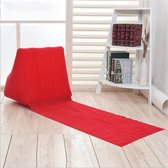Outdoor Beach PVC Thick Flocked Beach Mat Inflatable Triangle Pad  Size:  150x38x46cm (Red)