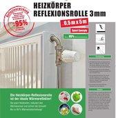 radiatorfolie isolatie 5m x 0,5m x 3mm Radiatorfolie voor de muur achter de verwarming, Verwarmingsfolie op rol, isolatie achter radiator