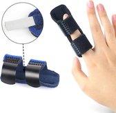 Sterke vingerspalk - Verstelbaar - Vingerbrace - Buigbaar - Finger spalk - Duimspalk - Ondersteuning voor de vingers - Vingerbob - Blauw - Universeel