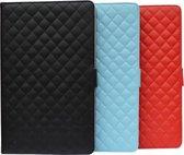 9.7-10.1 inch Diamond Class Tablet Case 360 graden draaibaar met ruitmotief, Designer hoesje