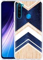 Xiaomi Redmi Note 8 Hoesje Space wood
