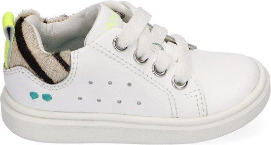 BunniesJR Kiki King Meisjes Sneakers Maat 20 Wit Sneakers Stap Bunnies Leer Veters Kindersneakers