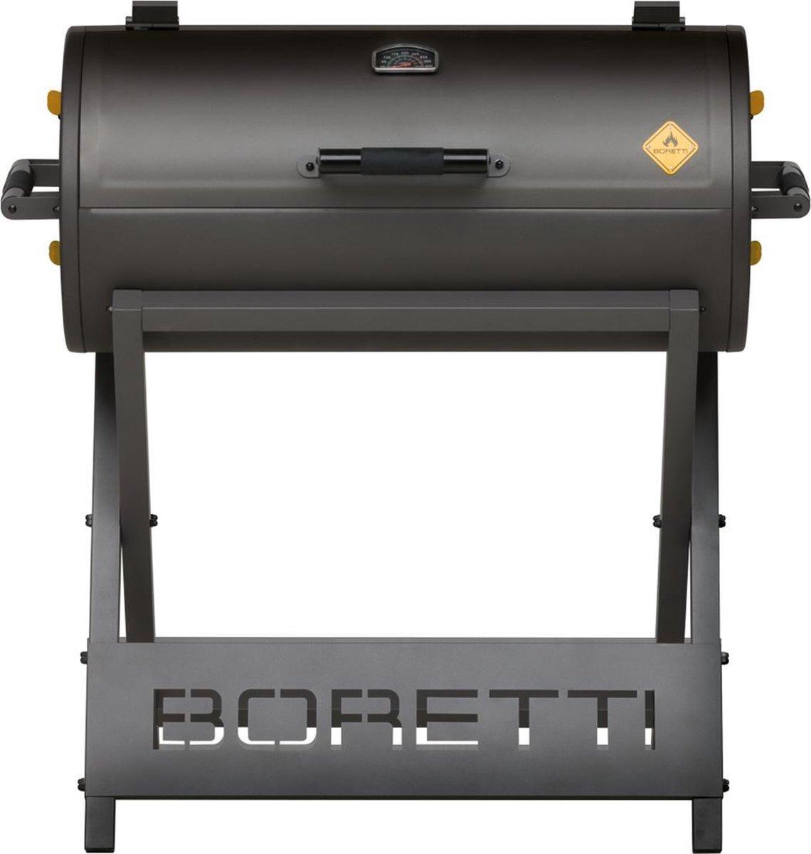 Boretti Barilo Houtskool Barbecue - Grilloppervlak (LxB) 84 x 41 cm - Inclusief Thermometer - Antrac