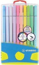Afbeelding van STABILO Pen 68 - Premium Viltstift - Pastelparade - Set Met 20 Verschillende Kleuren