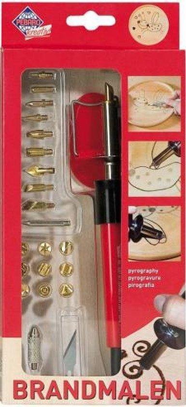Afbeelding van Pebaro Houtbrander Set Deluxe 20 Opzetstukken speelgoed