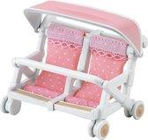 Sylvanian Families 4533 Dubbele Kinderwagen - Speelfigurenset