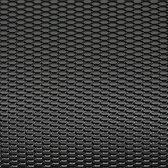 AutoStyle Racegaas aluminium zwart - honingraat 12x6mm - 125x25cm