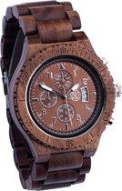 Greenwatch Timer Bruin Houten Horloge Heren