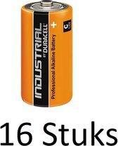 16 Stuks Duracell Industrial C alkalinebatterij Bulk