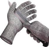 Snijwerende handschoenen - maat M - voor oesters, koken, wilde dieren, werkhandschoenen, houtbewerking, fileren, BBQ - Snijbestendig