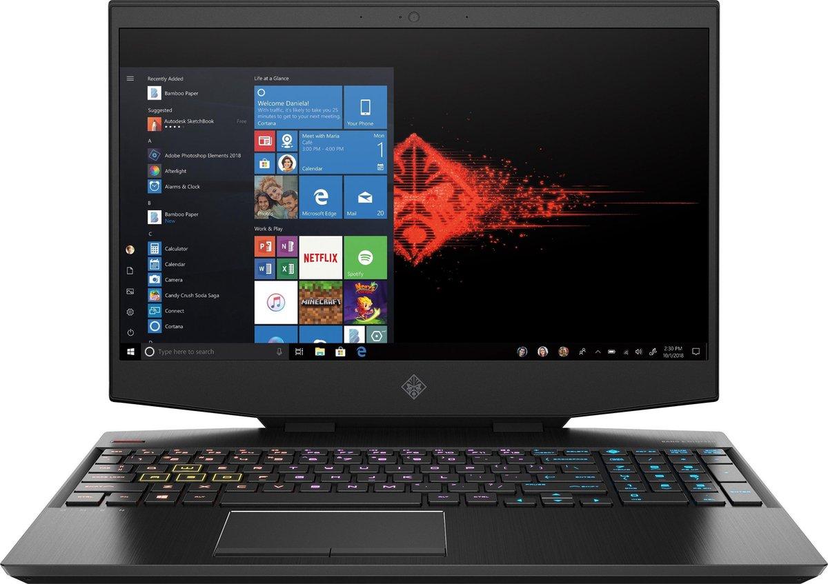"HP OMEN by HP 15-dh0650nd DDR4-SDRAM Notebook 39,6 cm (15.6"") 1920 x 1080 Pixels Intel® 9de generatie Core™ i7 16 GB 1256 GB HDD+SSD NVIDIA® GeForce® GTX 1660 Ti Wi-Fi 5 (802.11ac) Windows 10 Home Zwart"