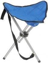 Opvouwbare campingkruk/vissersstoeltje blauw - Handig op reis/camping