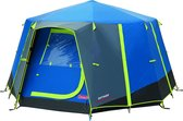 Coleman OctaGo Tent - Festival - 3-Persoons - Blauw/lime