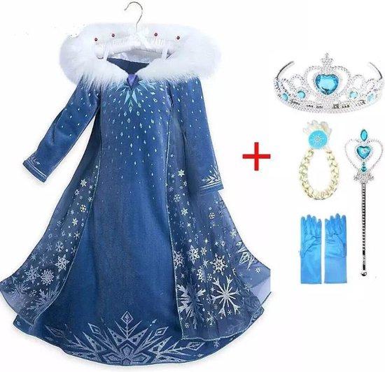 Elsa jurk - Frozen verkleedjurk met accessoires