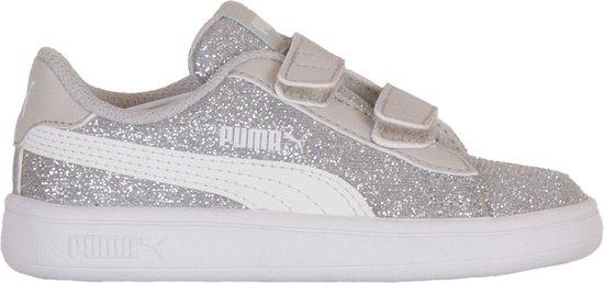 bol.com | Puma Sneakers - Maat 23 - Meisjes - zilver/wit