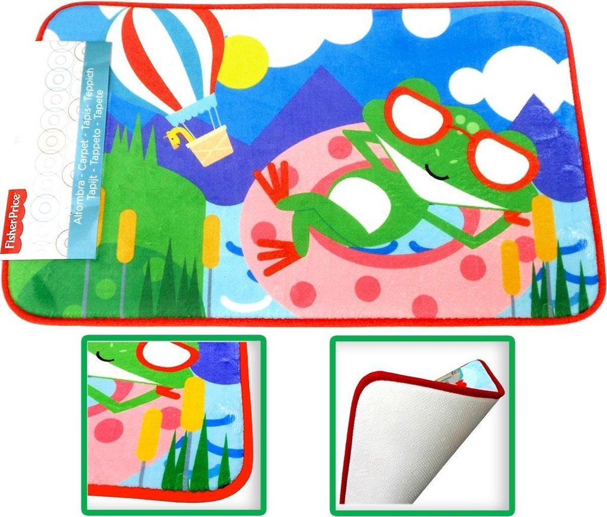 Fisher Price Kikker speelkleed tapijtje baby - super zacht materiaal - 45 x 75 cm groot