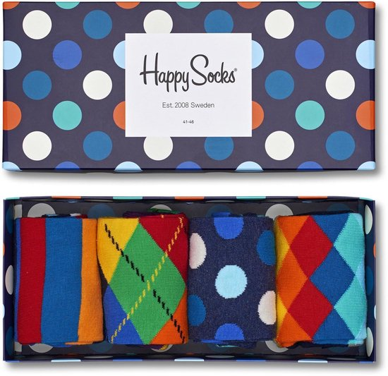Happy Socks Big Dot Giftbox - Maat 41-46 - Blauw | Multicolor
