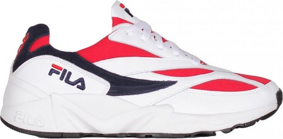 Fila Venom Low Sneakers Heren - White/Navy-Red - Maat 43