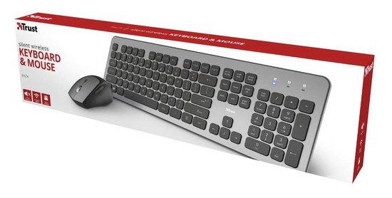 Trust Raza Draadloze Stille Deskset Keyboard en Muis – QWERTY