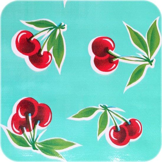 MixMamas Tafelzeil Kersen - 120 x 200 cm - Mintgroen