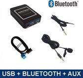 Bluetooth streamen, A2DP, Spotify, Deezer + handsfree carkit, USB, AUX interface, adapter voor FIAT autoradio's, 500, Punto, Panda, Stilo, Bravo, Ducato, Doblo, Idea, Multipla, Croma, Coupe, Qubo