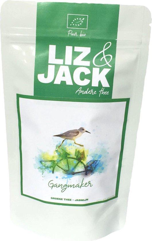 Liz & Jack theepakket | losse biologische thee | 6 x 50 gram | theecadeau