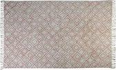 """ Vloerkleed 230x160 cm BOYAKA oud roze-wit ruitprint"""