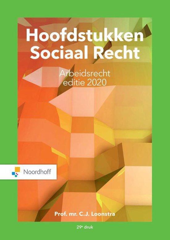 Boek cover Hoofdstukken Sociaal Recht editie 2020 van Prof.Mr.C.J. Loonstra (Paperback)