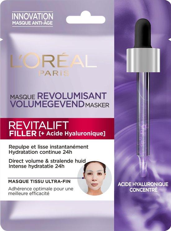 L'Oréal Paris Skin Expert Revitalift Filler Hyaluronzuur Tissue Masker - 1 Stuk