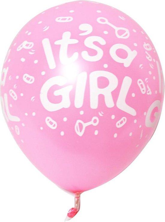 It`s a Girl - Rose ballonnen set 15 stuks - Babyshower - Kraamcadeau - Geboorte - Hoera een meisje!