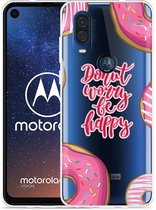 Motorola One Vision Hoesje Donut Worry