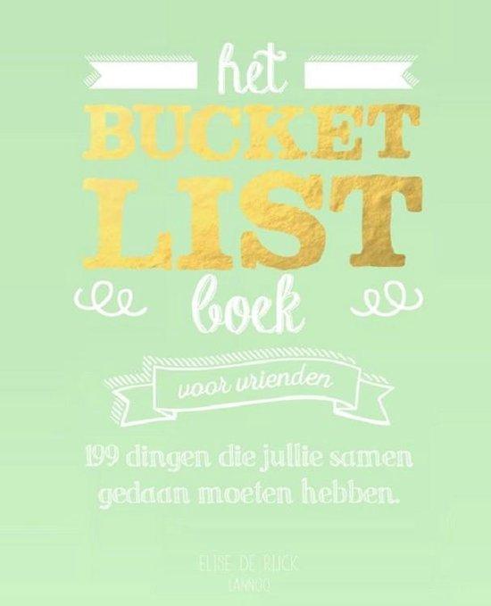 Omslag van Het Bucketlist boek voor vrienden