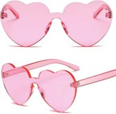 *Amalia zonnebril The Madam* Zonnebril Hartjes Montuur Roze - Sunglasses Heart Pink - Feest en Festival - Feest accessoires - Feest artikel - Dance Festival Outfit - Festival Brll - Feest Bril