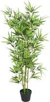 vidaXL Kunst bamboe plant met pot 120 cm groen