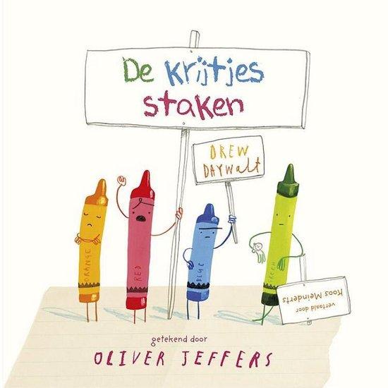 Boek cover De krijtjes staken van Oliver Jeffers (Hardcover)