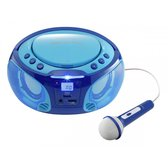 Lenco SCD-650 - Radio CD-speler Incl. karaokemicrofoon en LED - Blauw