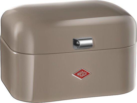 Wesco Single Grandy Broodtrommel - 28x22x17 cm - Warm Grey