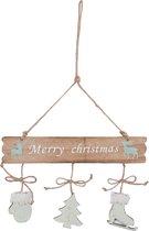 Clayre & Eef Hanger Merry Christmas 24x1x35 cm