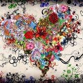 """Diamond Painting """"JobaStores®"""" Bloemen Hart - volledig - 40x40cm"""