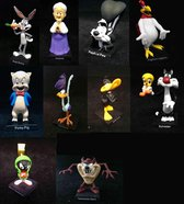 Verzamelset van 10 Looney Tunes Figuurtjes metaal (6-10 cm)