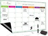 Magnetisch Weekplanner whiteboard (8) - A3 - Planbord - Familieplanner  - Gezinsplanner - To Do Planner