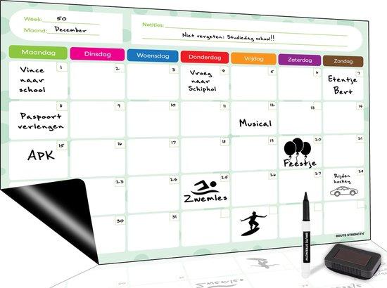 Afbeelding van Magnetisch Weekplanner whiteboard (8) - A3 - Planbord - Familieplanner  - Gezinsplanner - To Do Planner