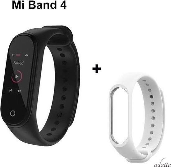Xiaomi Mi Band 4 activity tracker + Adatta bandje - wit